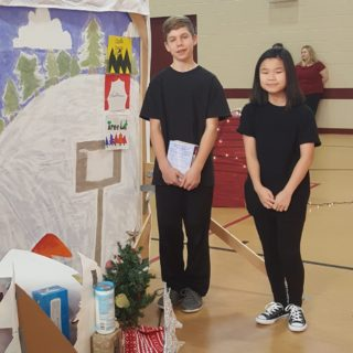 Eighth grade class performed the play A Charlie Brown Christmas for the St. Justin Martyr students!