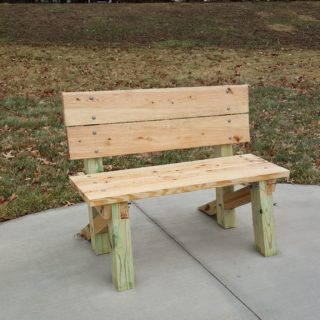 New Playground Bench designed and built by SJM students