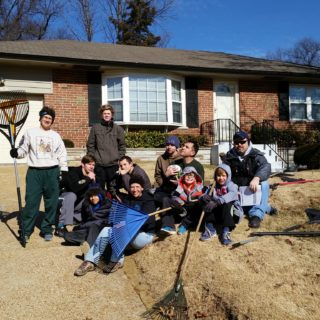 The Crew raked leaves at five houses in our neighborhood in three hours. The senior citizens we helped out appreciated our assistance and enjoyed talking to us.